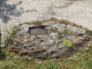 Култниот камен пред црквата