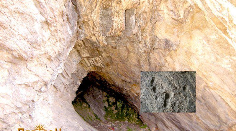 Култната пештера со симболиката - во боја