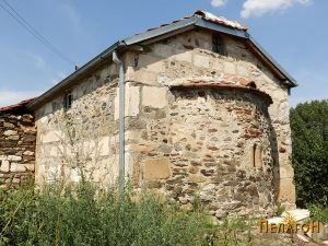 """Црквата """"Св. Никола"""" од југоисток со апсидата"""