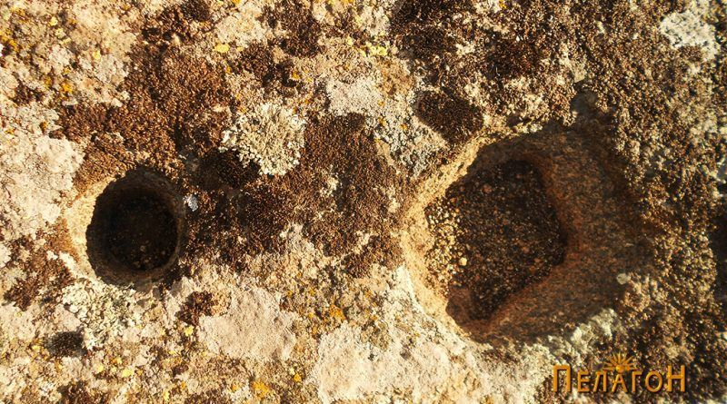 Кружна и правоаголна форма на карпа во близина