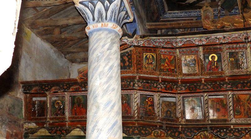 Еден од столбовите и дел од живопис