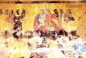 Фрагмент од живописот на западниот ѕид - од Страшниот суд