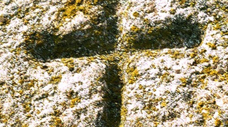 Крст врежан на камена плоча
