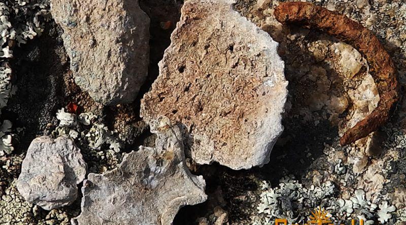Фрагменти од олово и железо