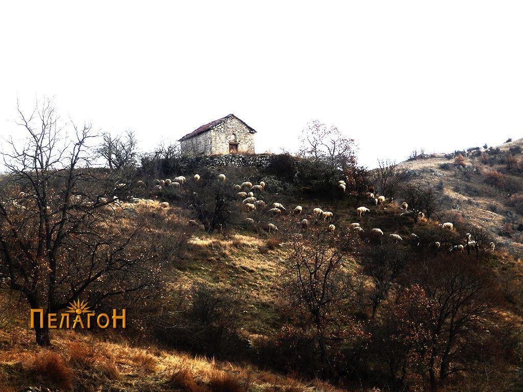 """Црквата  """"Св. Спас"""" од запад - од поголемо растојание"""