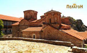 """Црквата """"Успение на Пресвета Богородица"""" во манастирот """"Трескавец"""" - од северозапад"""