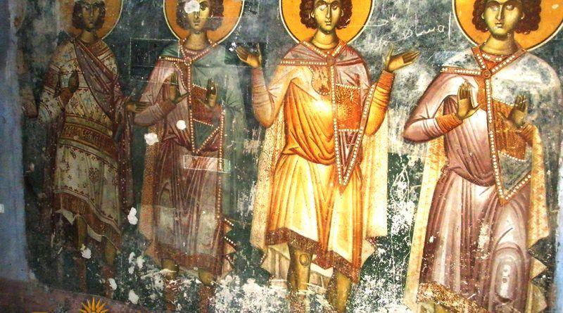 Дел од живописот во црквата