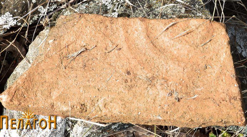 Фрагмент од тегула со кружно украсување