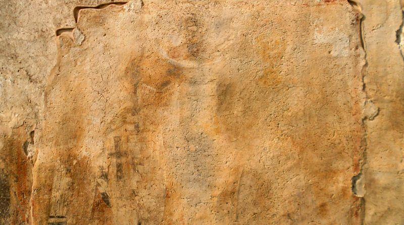 Остаток од живописот на јужниот ѕид 1