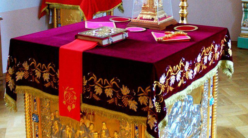 Света маса со живопис од Валаамскиот манастир - Русија https://ru.wikipedia.org/wiki/