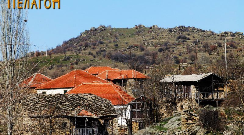 """""""Убава Глава"""" со дел од селото Чаниште во преден план"""