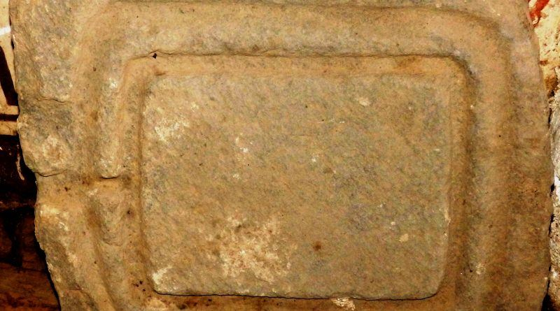 Објект од камен - дел од направа за цедење овошје во просторијата на црквата
