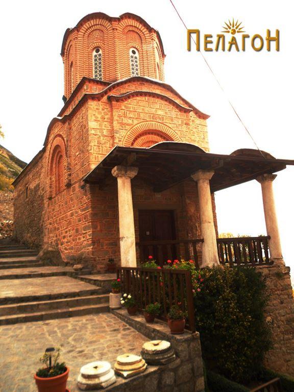 """Црквата во манастирот """"Св. Архангел Михаил"""" од северозапад"""