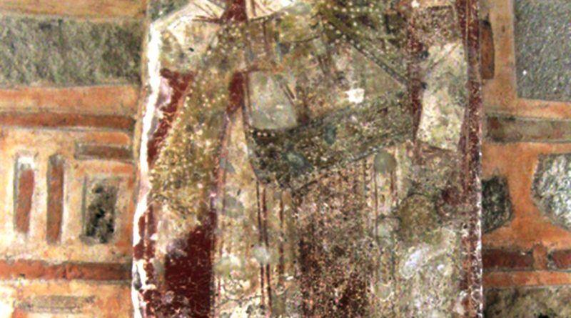 """Кралот Марко на западниот ѕид на црквата """"Св. Архангел Михаил"""" над Варош"""
