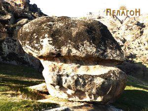 Голема карпа со врежани форми за конструктивна намена