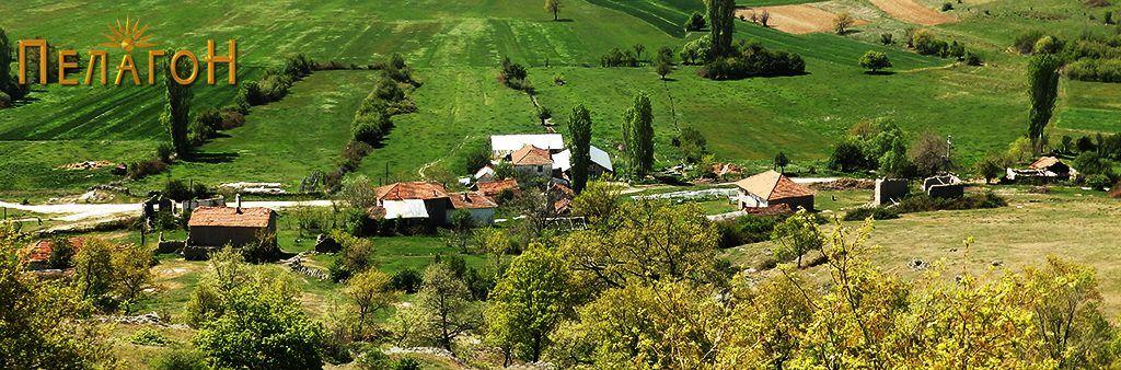 Дел од селото Кутлешево - поглед од Кале 1