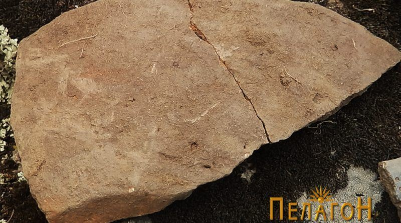 Фрагмент од керамички сад со комплетно сочуван дел од дното до устинката