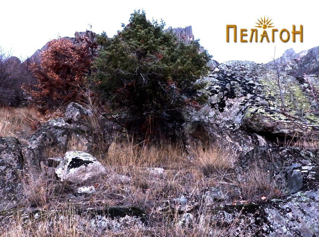 Дел од просторија врежана во карпа