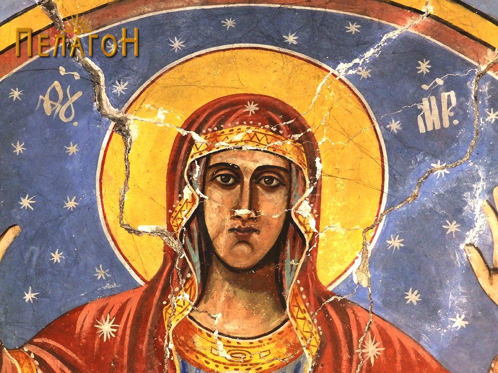 Св. Богородица со Исус - детал