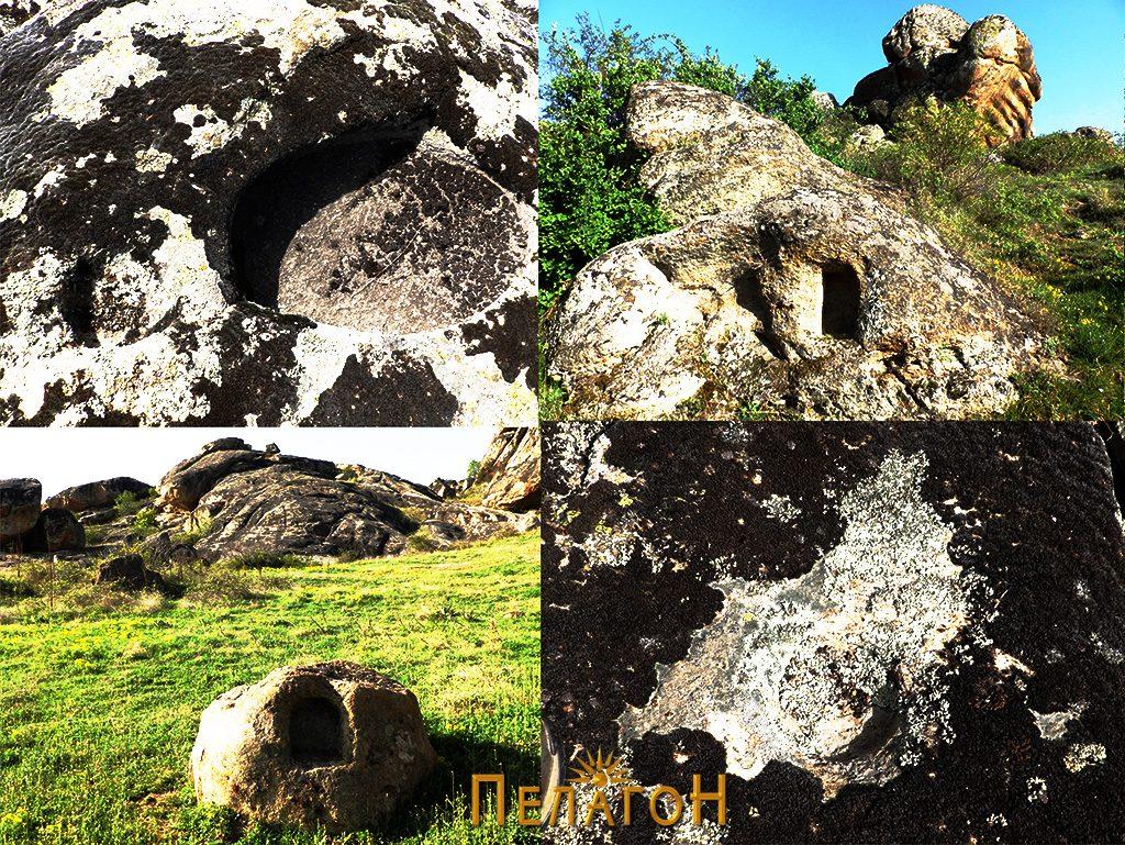 Културни траги - обработени форми по карпите од блиската околина