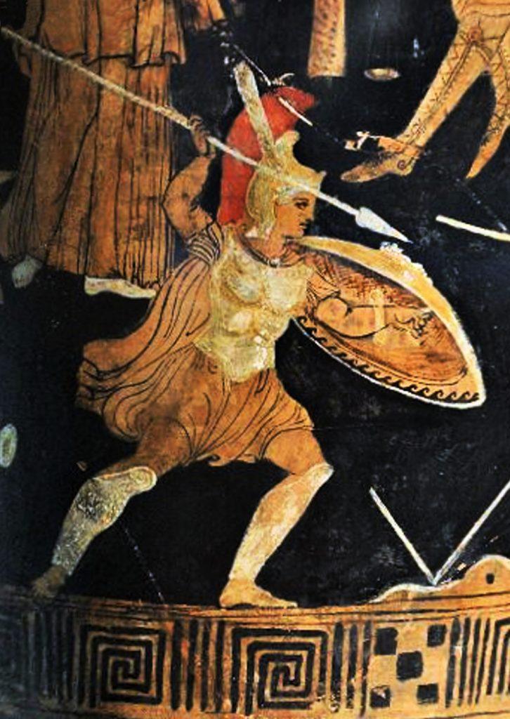 Ахил во борба - Memnon_Leiden_Rijksmuseum_voor_Oudheden