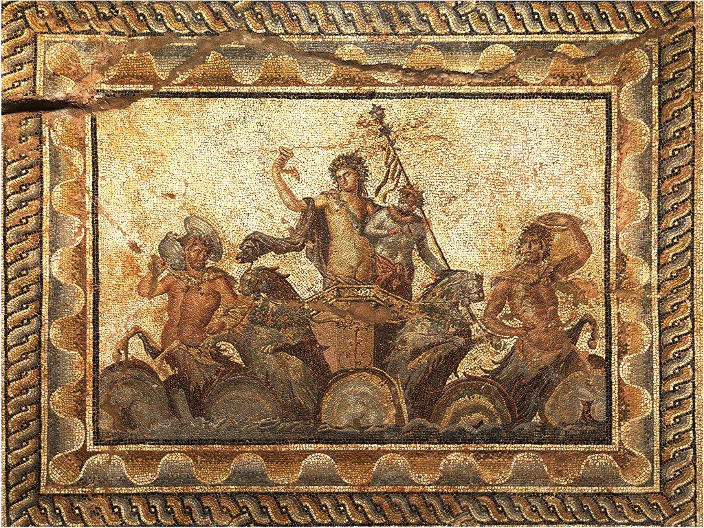 Мозаик од градот Дион - сцена со Дионис