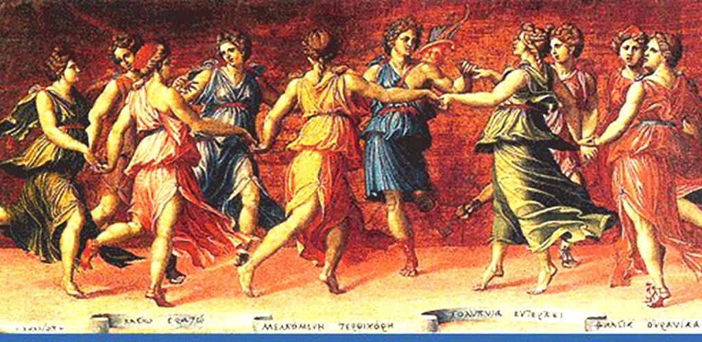 Музите и Аполон во танц - Балдасаре Перуци