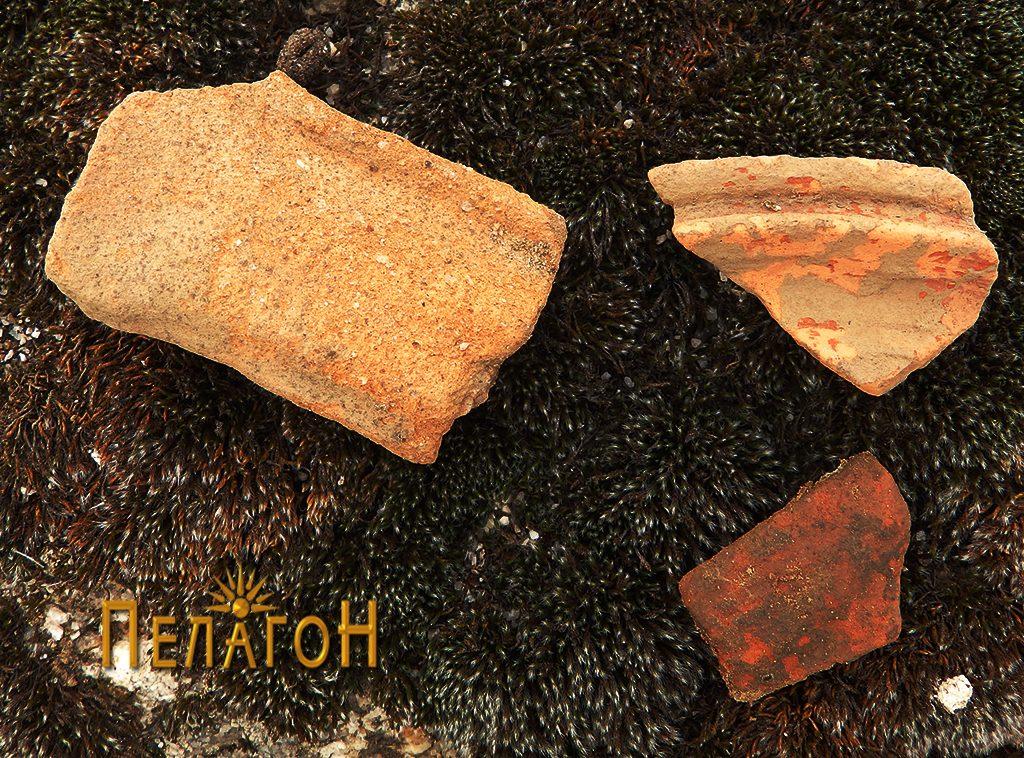 Неколку фрагменти од керамички садови