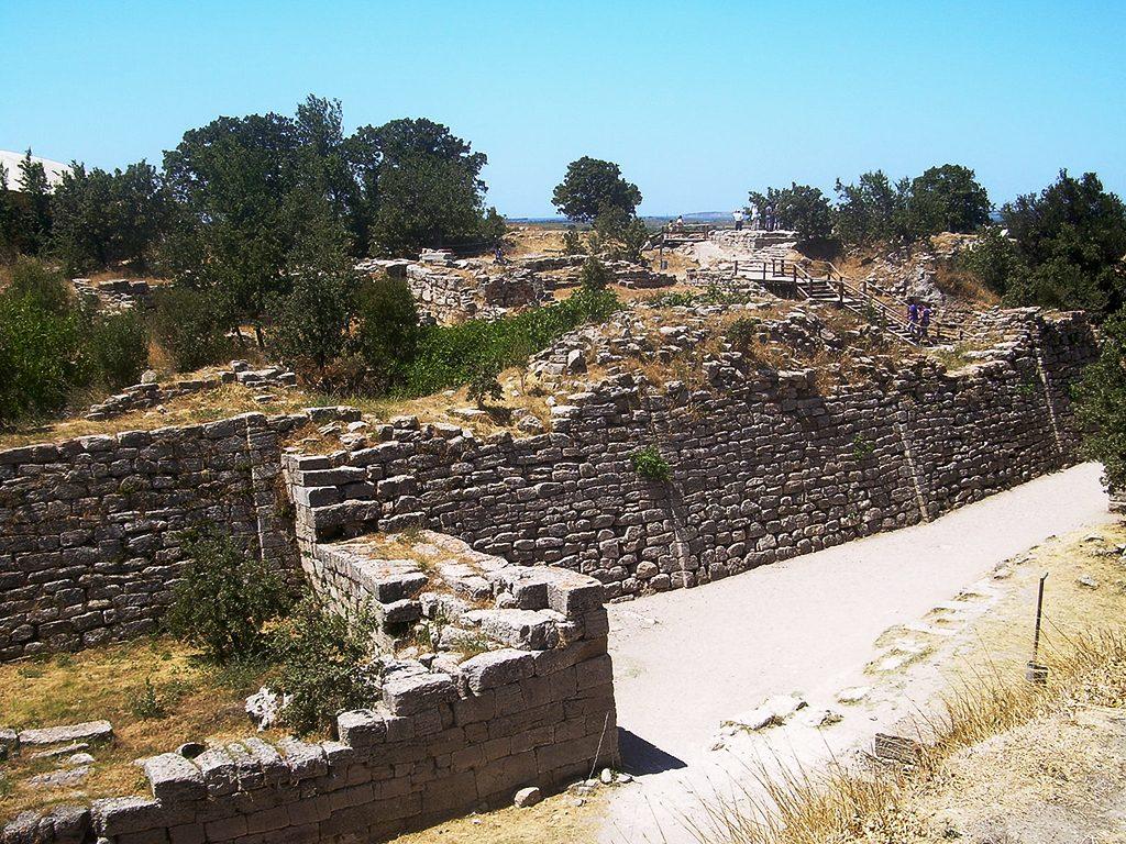Акрополата на градот Троја VII, која се смета дека е од времето на Тројанската војна