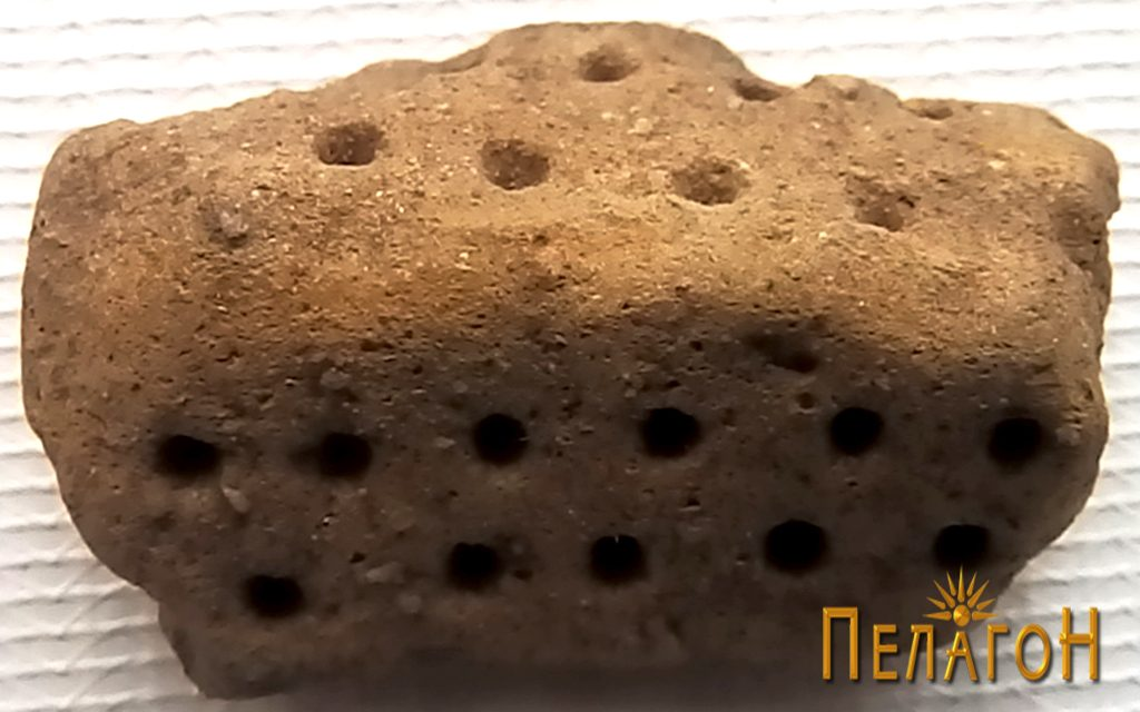 Фрагмент од керамички сад - жртвеник
