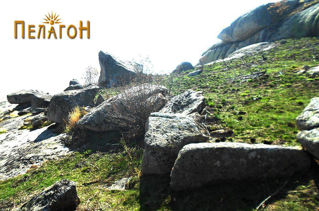 Дел од ѕид од тврдината од североисточната страна 5