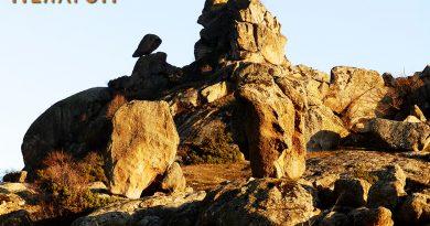 Поглед од запад со исправени карпи