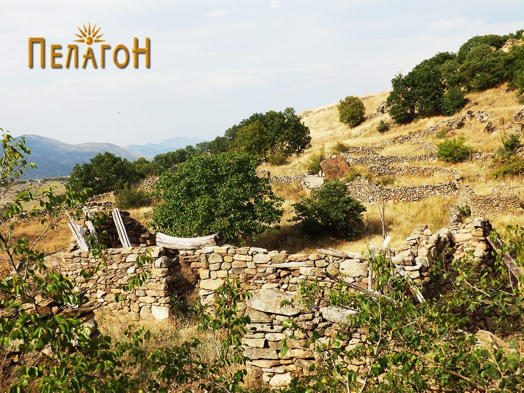 Едно од трлата изградено со градежен камен од старата населба