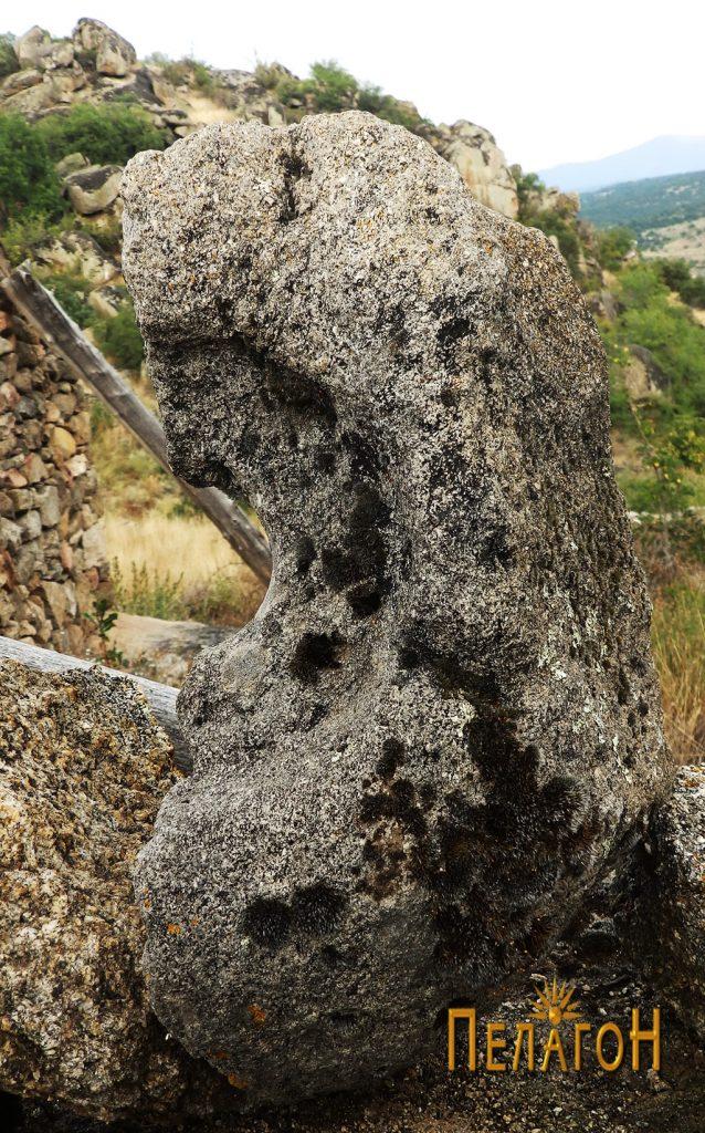 Фрагмент од камена рачна мелница 5