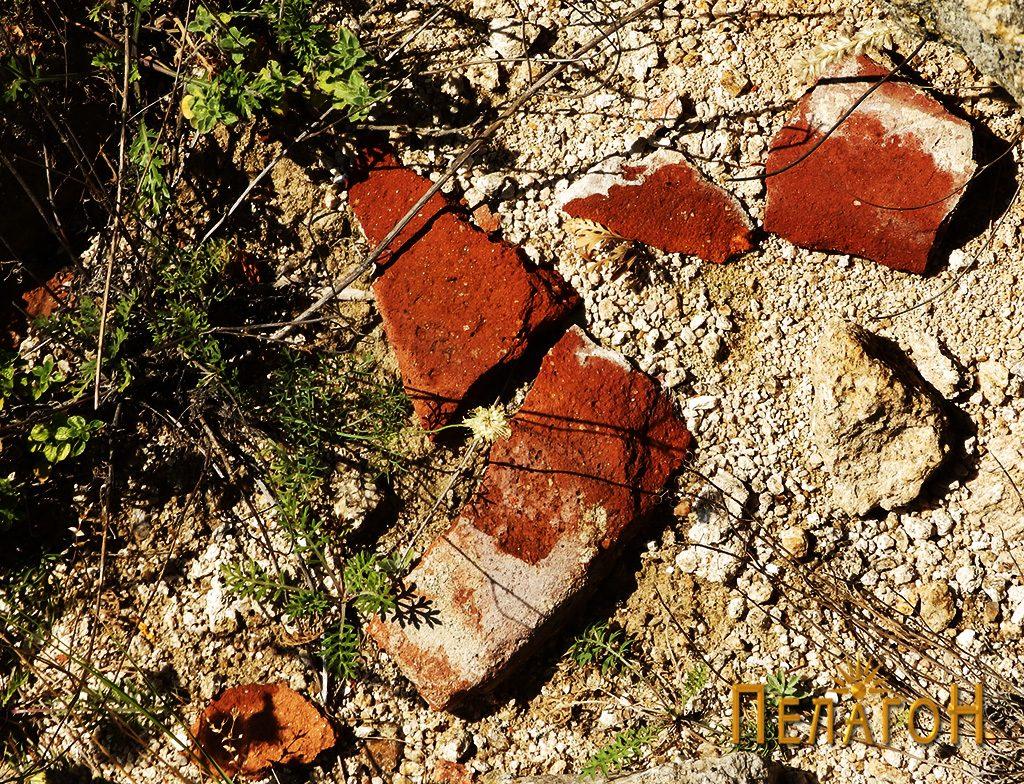 """Остатоци од тегули и цигли од градбите на """"Лавот"""" 2"""
