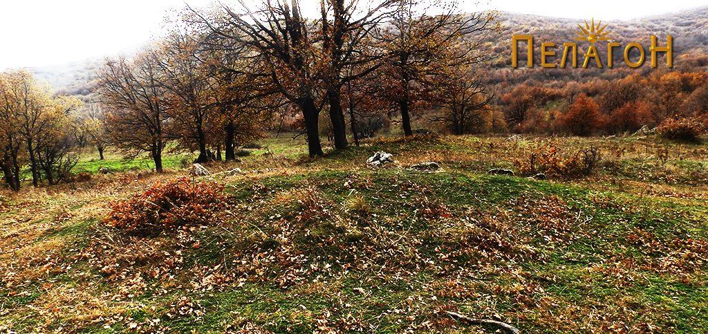 Дел на ридот со остатоци од градба