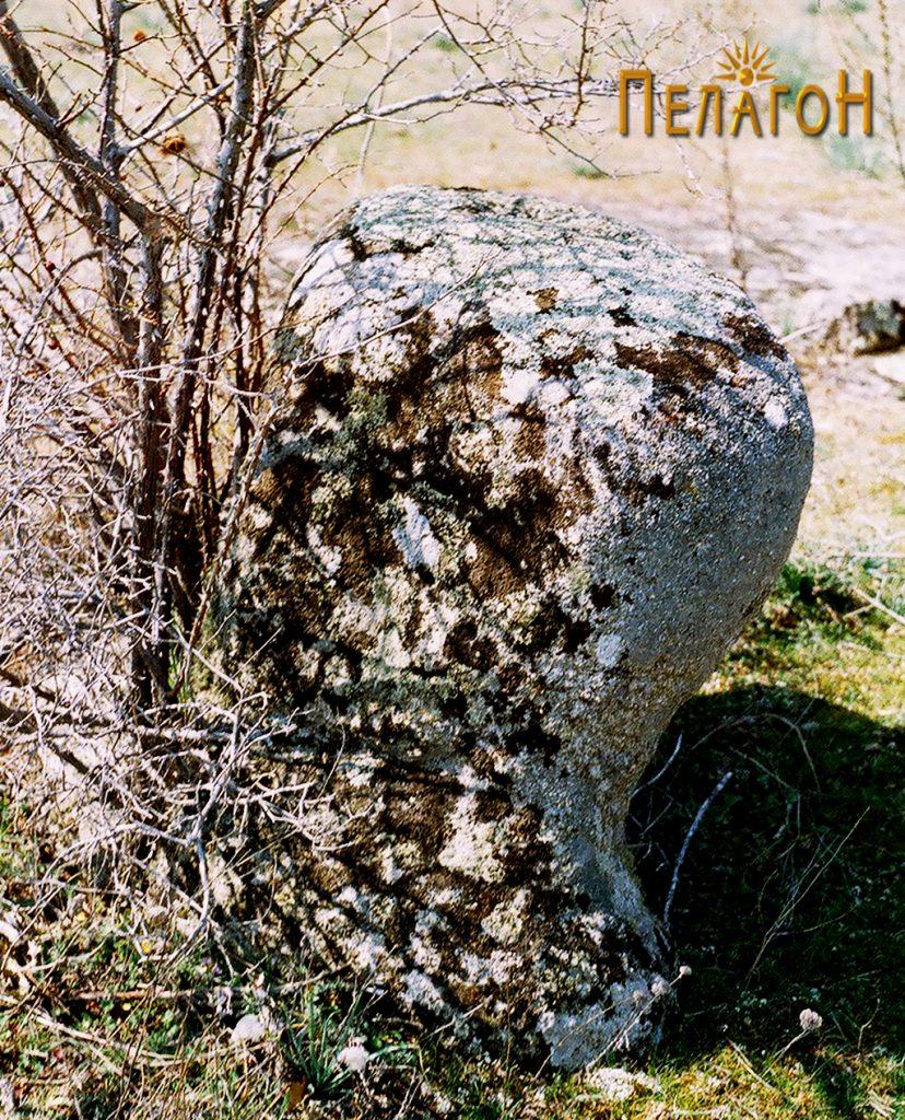 Култната карпа во средината на утврдениот дел