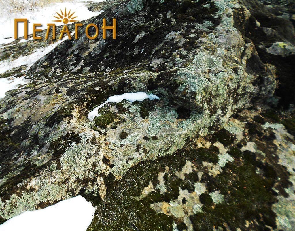 Оформен дел на карпа - полукружна форма