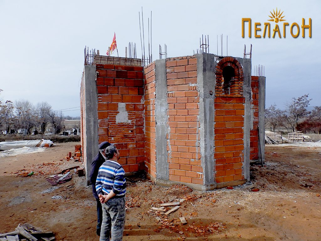 """Новата црква """"Св. Никола"""" во Канатларци, во изградба 2"""
