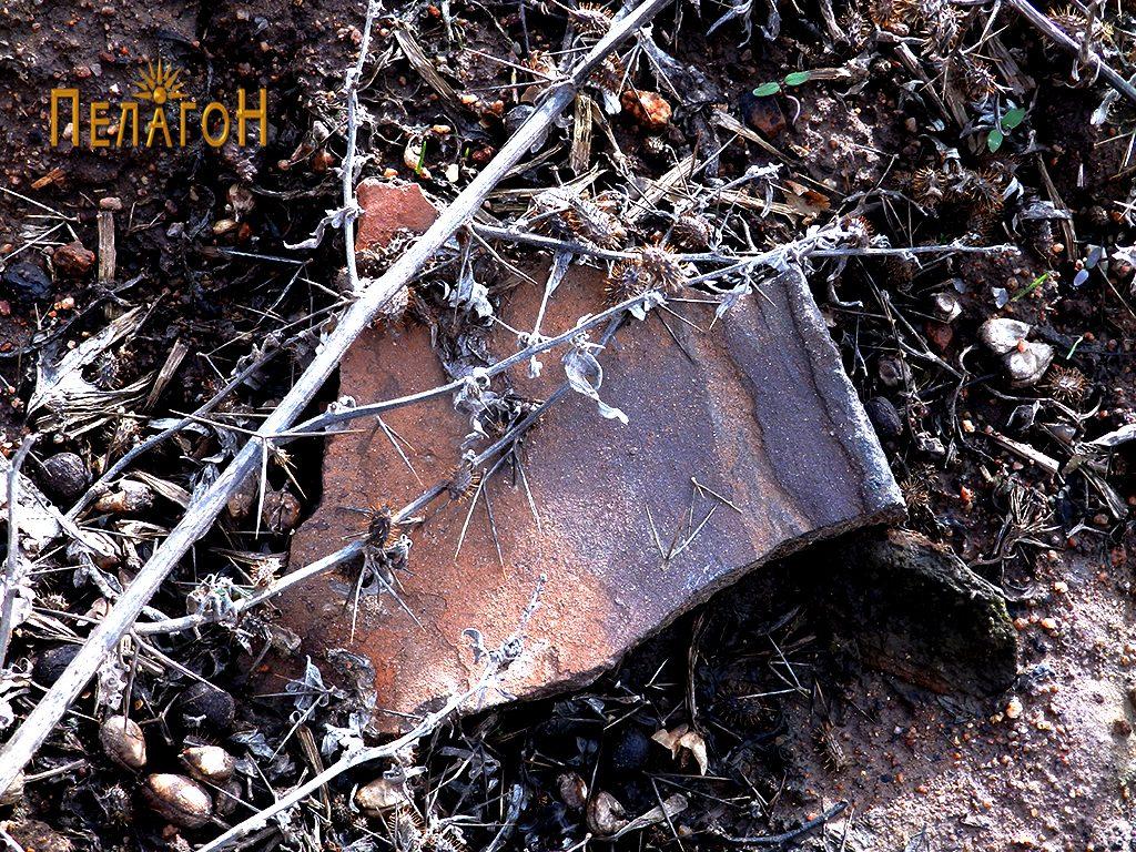 Фрагмент од керамички сад - устинка (на лице место)