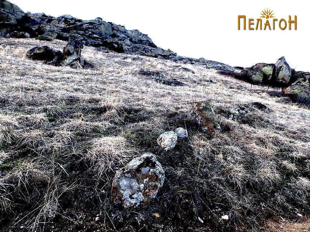 Остаток од ѕид на стрмен дел на падините