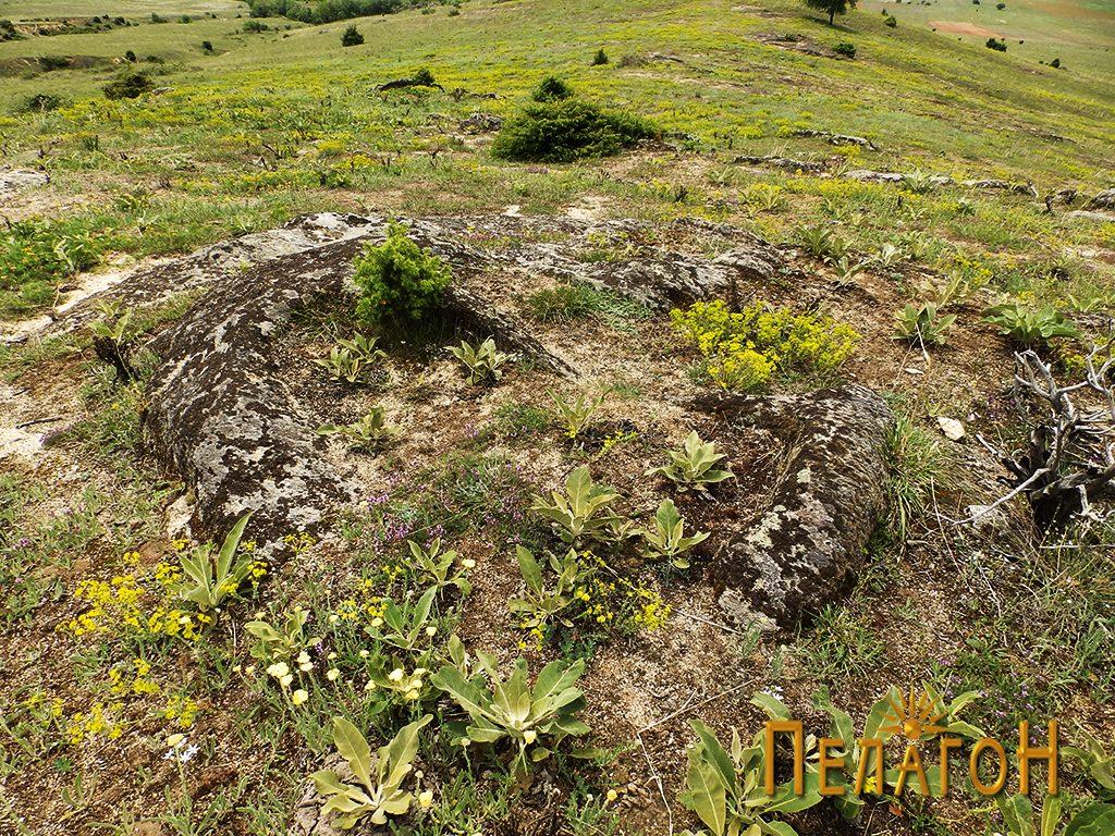 Гробови издлабени во карпа од некрополата