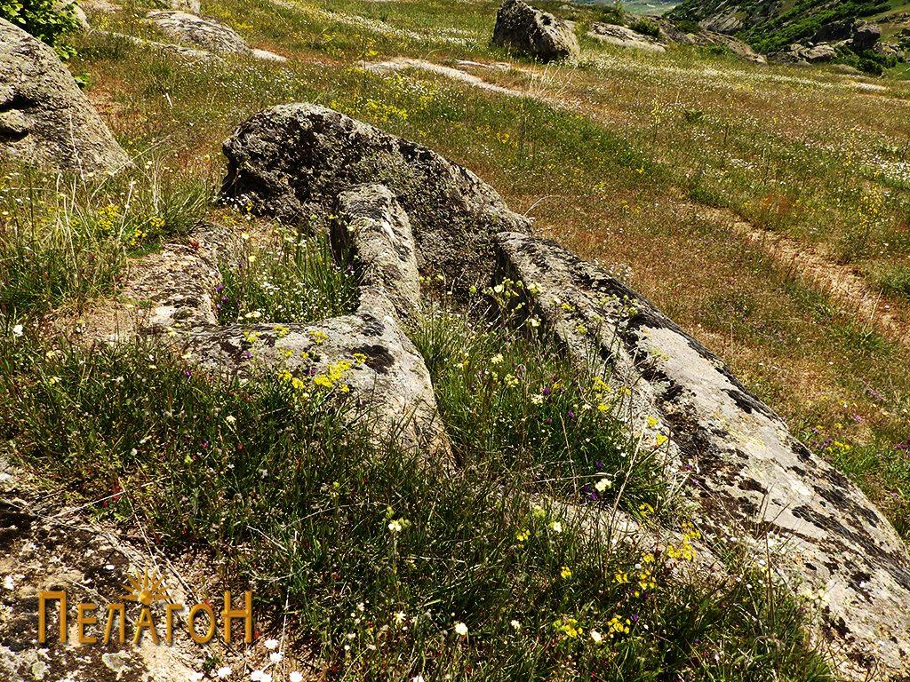 Два сочувани гробови во камен од некрополата