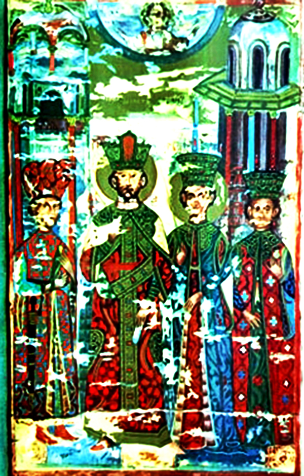 Претставата од манастирот Исфигмен на Атос - Ирина, Ѓураѓ, Катакузина и Мара 2
