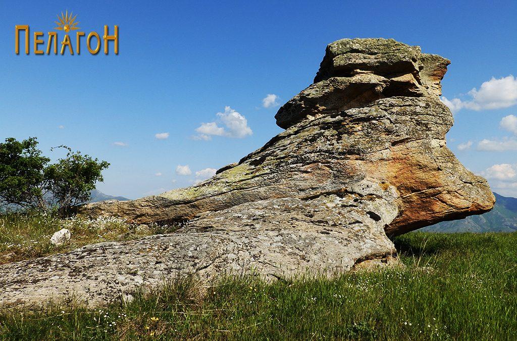Централната култна карпа на Гумење од северозапад 2
