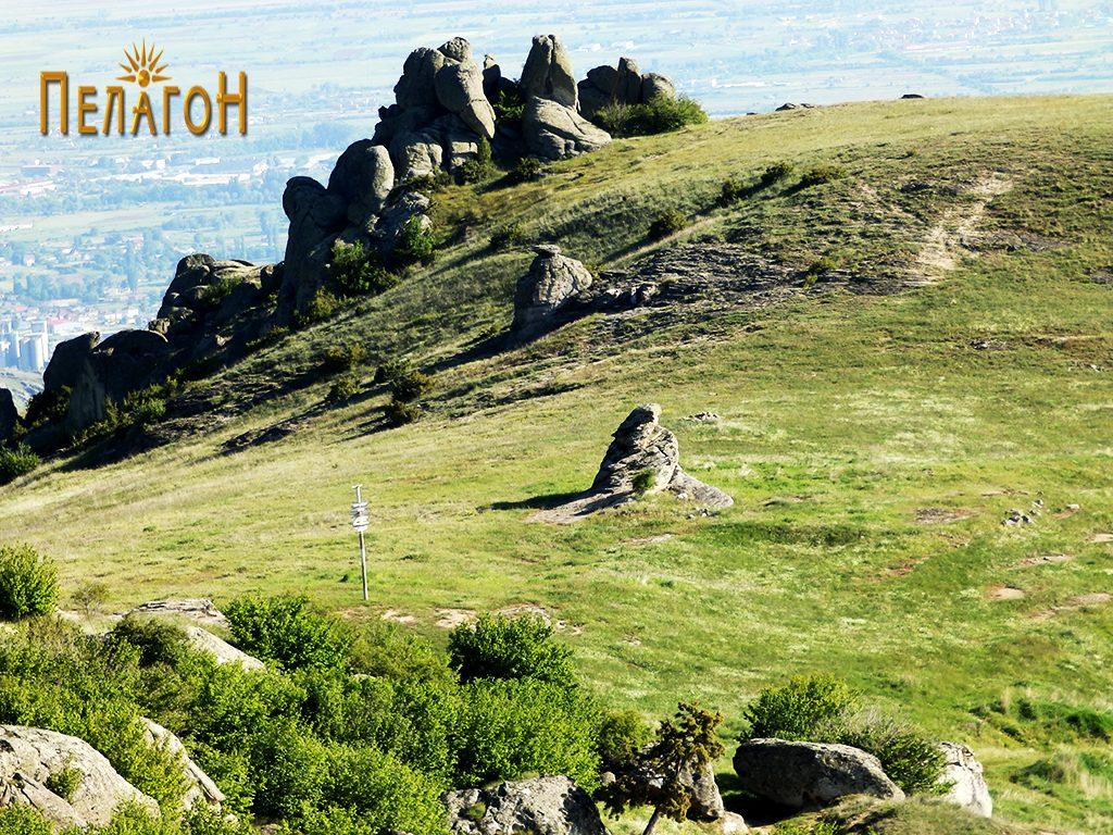 Просторот на некрополата со централната култна карпа од северозапад