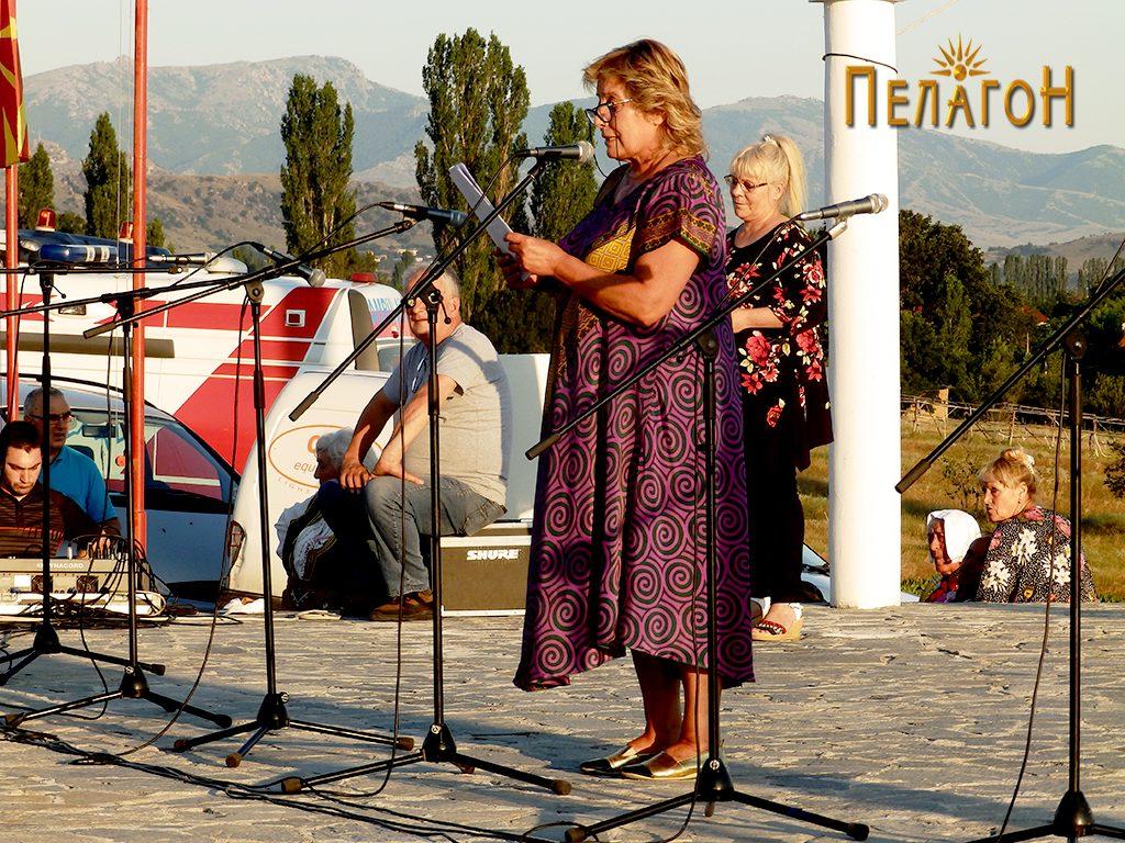 Весна Атанасоска - Вучиќ, ќерката на патронот на фестивалот, Пеце Атанасоски