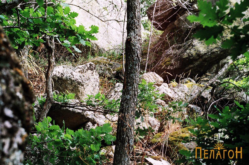 Остатоци од сувоѕид од големи камени блокови на Маркова Стена