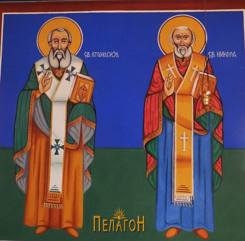 """Од живописот во поголемата црква на """"Св. Пантелејмон"""""""