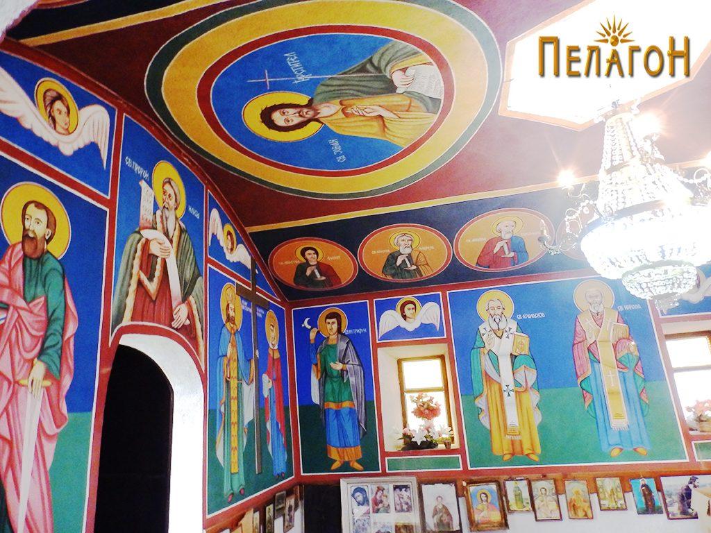 """Од живописот во поголемата црква на """"Св. Пантелејмон"""" 2"""